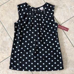 NWT Merona polka dot blouse size XS